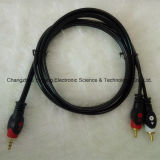 Fisheye 3.5 Stereo to 2r Audio / Video AV RCA Cable