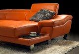O conjunto de sofá de couro laranja moderna sala de estar Mobiliário (TG-G2293)