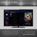 Cadre androïde du prix usine de qualité TV Amlogic S905X jusqu'à 2.0 gigahertz, support Kodi 17.0 du bras Cortex-A5 de faisceau de quarte