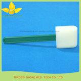 Equipo dental mango de plástico Esponja Swab Palo