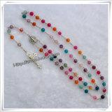 Il rosario di legno, il rosario di vetro, il rosario della perla, il rosario del metallo della lega, rosario dell'ematite, azzurro di plastica borda il rosario (IO-cr046)