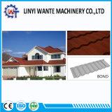 アルミニウム亜鉛鋼板の屋根ふき材料の石は金属の屋根瓦の結束のタイプに塗った