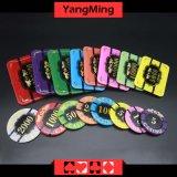 Kristallschürhaken-Chips mit Tiger-Bild-Kasino Chipss (YM-CP020-21)