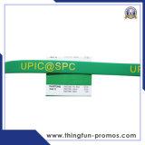 Braccialetto del silicone del Wristband del silicone di marchio stampato abitudine