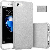 Teléfono Móvil de venta caliente Glitter TPU PC Bling Cubierta para el iPhone7 7plus