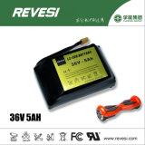 36V 5ah Pak van de Batterij van Li het Ionen5c voor Autoped