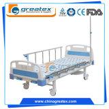 2機能患者のための手動病院用ベッドの医学のベッド