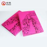 Cuaderno rosado de la cubierta