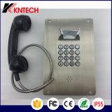 Nottelefon des Edelstahl-Metalltasten-Telefon-Knzd-07A
