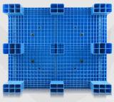 Grootte 1200*1000*140mm van de EU het Plastic Plastic Dienblad van het Rek van de Plank van de Oppervlakte van de Pallet Vlakke met 4 Buizen van het Staal voor de Producten van het Pakhuis