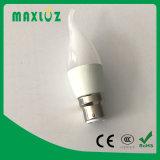 Ampola da vela do diodo emissor de luz de F37 B22 com 3W, 4W, 5W, 6W
