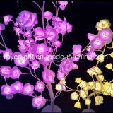 대량 판매 가정 인공 꽃 LED 로즈 결혼식 훈장