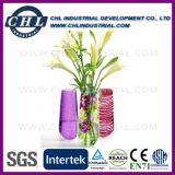 Многоразовый Печать логотипа пластиковые складные вазу для цветочный декор