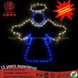 屋外の暖かい白トランペットのクリスマスの装飾的で軽いセリウムRoHSとの第2 LEDの天使のモチーフ