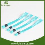 Wristband directo de la tela de China de la fábrica con el clip plástico