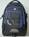 La fabbrica fa lo zaino di nylon durevole del computer portatile da 19 pollici, sacchetto classico nero dello zaino del computer portatile del banco dell'OEM di stile all'aperto
