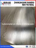 Acier inoxydable à finition gravée Appuyez sur pour le grain du bois en relief du moule