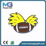 Pin di metallo promozionale di gioco del calcio di rugby di vendite calde