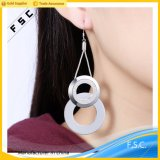 도매 최고 디자인 굴렁쇠 여자를 위한 은에 의하여 도금되는 하락 귀걸이