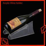 Organizador de la botella de vino de acrílico transparente Rack para mostrar
