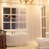 A Europa à prova Anti-Mildew popular banho PEVA cortina do chuveiro (12S0034)