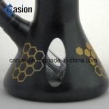 Schwarzer Inline-Filtrierapparat-Glaspfeife (BY007)