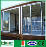 Windows Louvered de aluminio con color negro