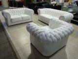 Sofá de couro moderno de Chesterfield para a mobília do sofá da sala de visitas