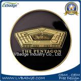 Messing gestempelte Metallmünze mit Pentagon angepasst