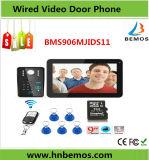 9 citofono di Doorphone della registrazione di parola d'accesso di pollice 900tvl RFID video