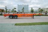 트레일러 40 피트 반 세로로 연결되는 차축 콘테이너 포좌