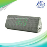 Jy-33c Time Screen Clock Portable Mini alto-falante Bluetooth amplificador de áudio