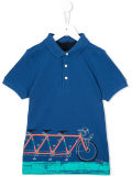 Camicia di polo stampata bicicletta del ragazzo della fabbrica