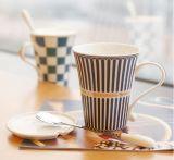 12oz taza de café de cerámica delgada con diseño simple
