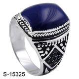 De nieuwe Model Zilveren Ring van de Mens van het Email van Juwelen 925 Goede Verkopende