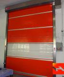 Высокоскоростная завальцовка PVC вверх по двери для мастерской (HF-2013)
