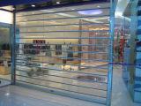 Дверь штарки завальцовки поликарбоната коммерчески алюминиевых решеток завальцовки прозрачная (Hz-PRS06)