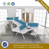 تصميم جديدة [ل-شبد] 4 شخص مكتب مركز عمل حاجز حجيرة ([هإكس-نبت053])