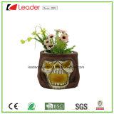 Crânio Polyresin decorativas vasos para decoração de casa e jardim