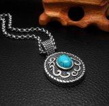Vintage Turquoise 316L en acier inoxydable Collier Pendentif Bijoux Fashion