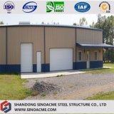 Fertigportalrahmen-Stahlgebäude für Werkstatt mit Kabinendach