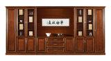 Scaffale esecutivo del grande ufficio di legno antico con i cassetti