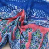 Form-Zusatzgerät gedruckter Boho Schal für Mädchen-Polyester-Blau-Schal