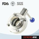 Valvola a farfalla saldata pneumatica di trasformazione dei prodotti alimentari dell'acciaio inossidabile (JN-BV1018)
