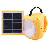 3-6 V Venta caliente batería recargable portátil de luz LED solar linterna solar para el exterior