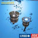 Colore IP68 che cambia acciaio inossidabile 316 indicatori luminosi subacquei messi del raggruppamento della STAZIONE TERMALE del LED
