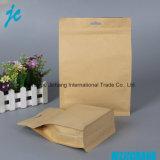 Дешевые и высокое качество встать крафт-бумаги сумка с молнией