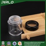 tarro cosmético plástico vacío negro 10g con el envase de polvo flojo del tamiz del polvo