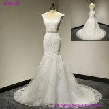 Herrliche Hochzeits-Kleid-Brautkleid-weiche Schatz-trägerlose Braut-Abnützung gekräuselte Fußleiste nach Maß