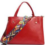 ふさEmg5120が付いているバルク卸し売り本革の女性のハンドバッグの戦闘状況表示板のショルダー・バッグ